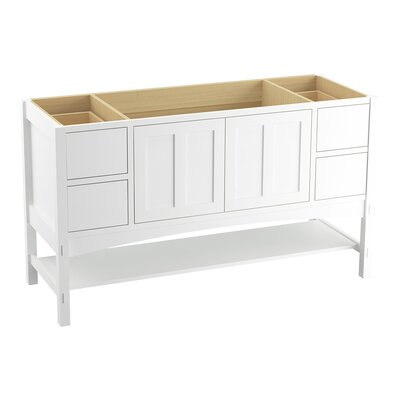 Marabou 60 Vanity with 2 Doors and 4 Drawers, Split Top Drawers Finish: Linen White