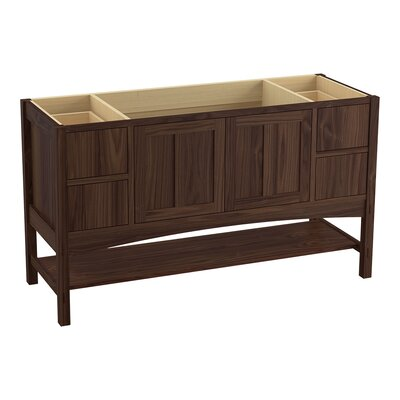 Marabou 60 Vanity with 2 Doors and 4 Drawers, Split Top Drawers Finish: Terry Walnut