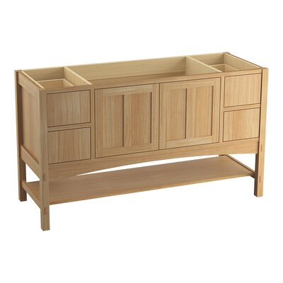Marabou� 60 Vanity with 2 Doors and 4 Drawers Finish: Khaki White Oak
