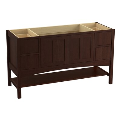 Marabou� 60 Vanity with 2 Doors and 4 Drawers, Split Top Drawers Finish: Cherry Tweed