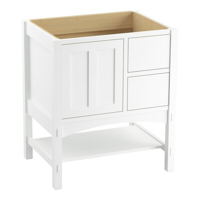 Marabou 30 Vanity with 1 Door and 2 Drawers on Right Finish: Linen White