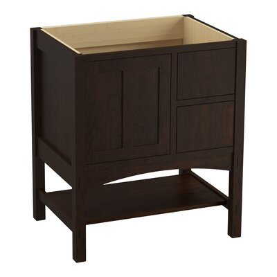 Marabou� 30 Vanity with 1 Door and 2 Drawers on Right Finish: Claret Suede