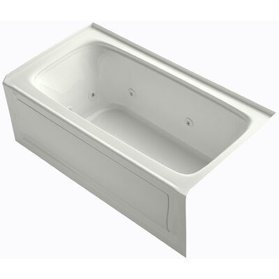 Bancroft Alcove Whirlpool Bath with Tile Flange, Right-Hand Drain and Bask Heated Surface Finish: Dune