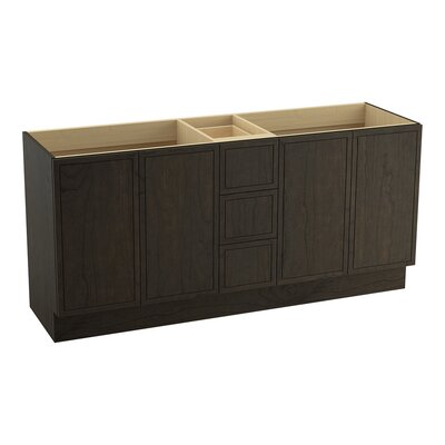 Jacquard� 72 Vanity with Toe Kick, 4 Doors and 3 Drawers, Split Top Drawer Finish: Felt Grey