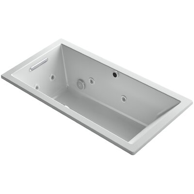 Underscore 60 x 30 Air / Whirlpool Bathtub Finish: Ice Grey