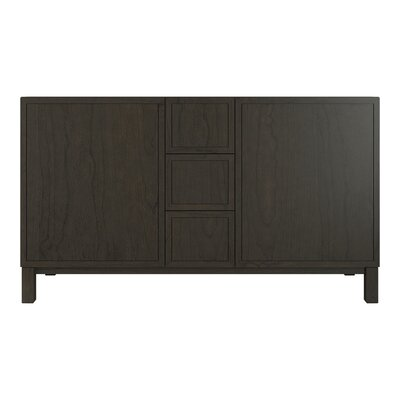 Jacquard 60 Vanity Base with Furniture Legs, 2 Doors and 3 Drawers Finish: Felt Grey