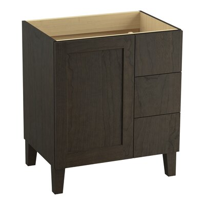 Poplin 30 Vanity with Furniture Legs, 1 Door and 3 Drawers on Right Finish: Felt Grey
