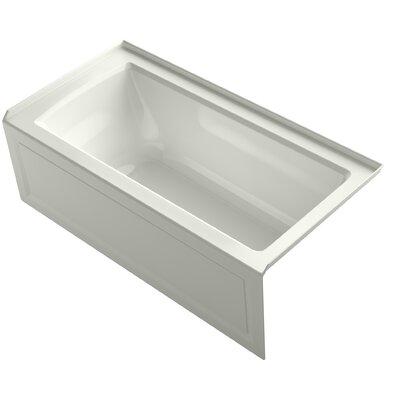 Archer Alcove VibrAcoustic Bath with Integral Apron, Tile Flange and Right-Hand Drain Finish: Dune