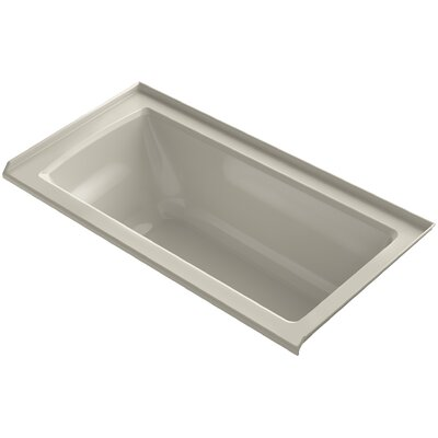 Archer Alcove VibrAcoustic Bath with Tile Flange and Right-Hand Drain Finish: Sandbar