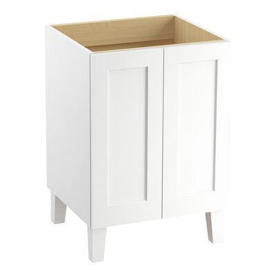 Poplin 24 Vanity with Furniture Legs and 2 Doors Finish: Linen White