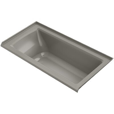 Archer Alcove VibrAcoustic Bath with Tile Flange and Right-Hand Drain Finish: Cashmere