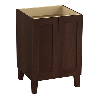 Poplin 24 Vanity with Furniture Legs and 2 Doors Finish: Cherry Tweed