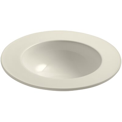 Camber Ceramic Circular Drop-In Bathroom Sink