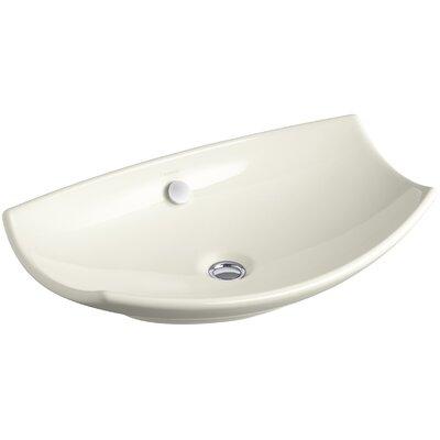 Leaf Specialty Vessel Bathroom Sink Finish: Biscuit