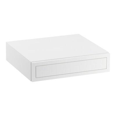 Jacquard� Lap Drawer Finish: Linen White