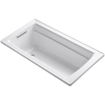 Archer Drop-In Bath with Reversible Drain Finish: White