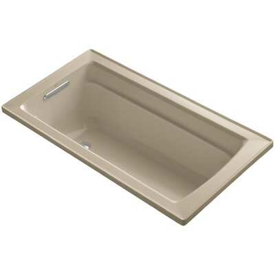 Archer Drop-In Bath with Reversible Drain Finish: Mexican Sand