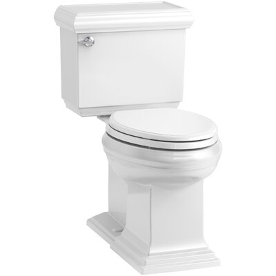 Memoirs Classic Comfort Height 2-Piece Elongated 1.28 GPF Toilet with Aquapiston Flush Technology and Left-Hand Trip Lever, Concealed Trapway Finish: White