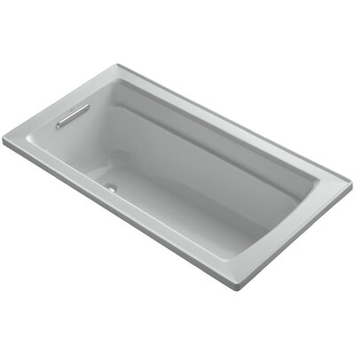 Archer Drop-In Bath with Reversible Drain Finish: Ice Grey