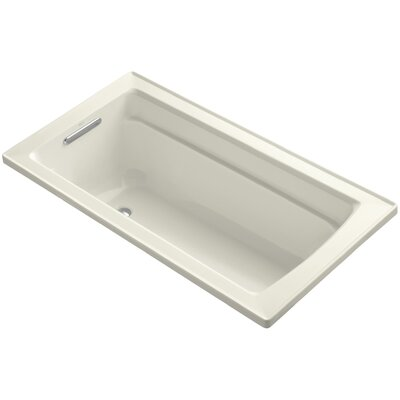 Archer Drop-In Bath with Reversible Drain Finish: Biscuit