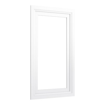 Damask Medicine Cabinet Surround, 15 Wide Finish: Linen White