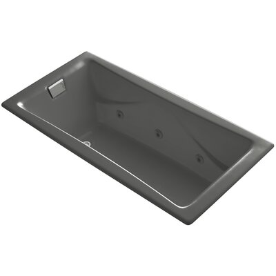 Tea for Two 72 x 36 Drop In Whirlpool Bathtub Finish: Thunder Grey, Installation Type: Alcove / Tile In