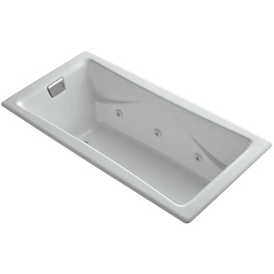 Tea for Two 72 x 36 Drop In Whirlpool Bathtub Finish: Ice Grey, Installation Type: Drop In
