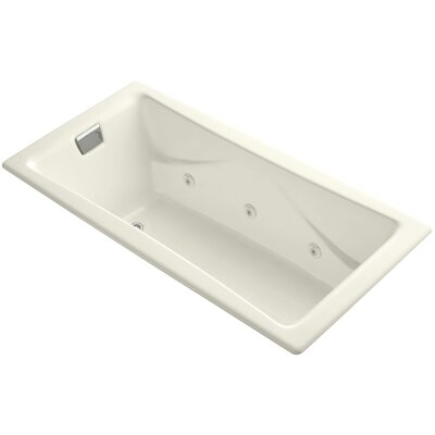 Tea for Two 72 x 36 Drop In Whirlpool Bathtub Finish: Biscuit, Installation Type: Drop In