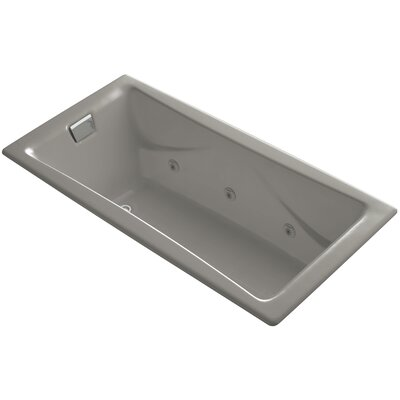 Tea for Two 72 x 36 Drop In Whirlpool Bathtub Finish: Cashmere, Installation Type: Drop In / Undermount