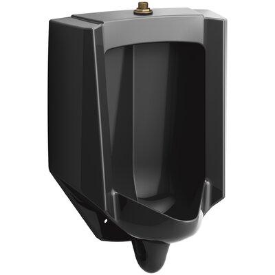 Bardon High-Efficiency Urinal (HEU), Washout, Wall-Hung, 0.13 gpf To 1 gpf Top Spud Finish: Black Black