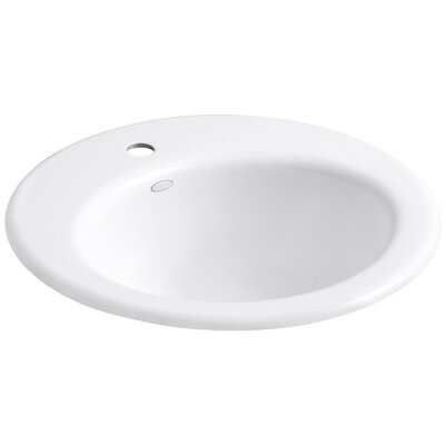 Radiant Self-Rimming Bathroom Sink Finish: White