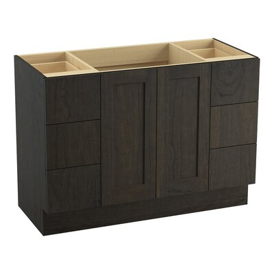 Poplin 48 Vanity with Toe Kick, 2 Doors and 6 Drawers, Split Top Drawers Finish: Felt Grey