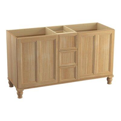 Damask� 60 Vanity with Furniture Legs, 2 Doors and 3 Drawers Finish: Khaki White Oak