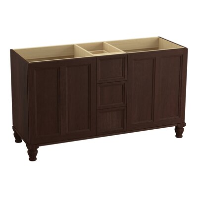 Damask� 60 Vanity with Furniture Legs, 2 Doors and 3 Drawers Finish: Cherry Tweed
