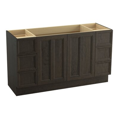 Damask� 60 Vanity with Toe Kick, 2 Doors and 6 Drawers, Split Top Drawers Finish: Felt Grey