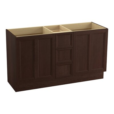 Damask� 60 Vanity with Toe Kick, 2 Doors and 3 Drawers, Split Top Drawer Finish: Cherry Tweed