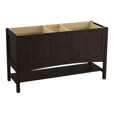 Marabou� 60 Vanity with 4 Doors and 2 Drawers Finish: Claret Suede