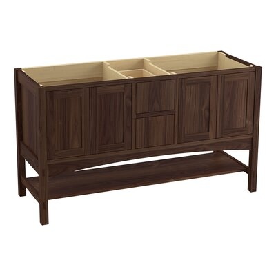 Marabou� 60 Vanity with 4 Doors and 2 Drawers Finish: Terry Walnut