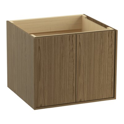 Jute 24 Vanity with 2 Doors Finish: Walnut Flax