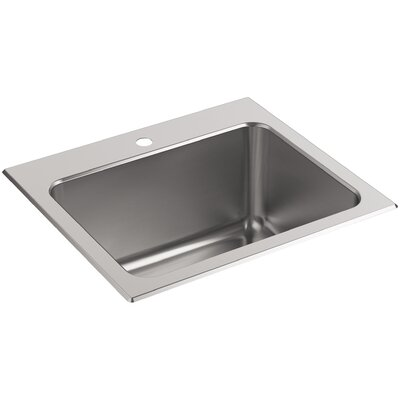 Ballad Top-Mount Utility Sink with Single Faucet Hole