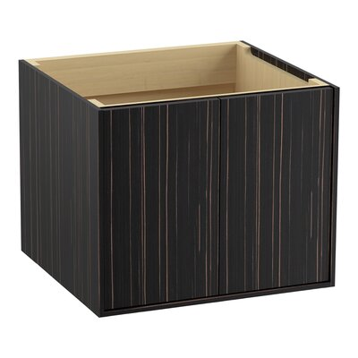 Jute 24 Vanity with 2 Doors Finish: Ebony Velour