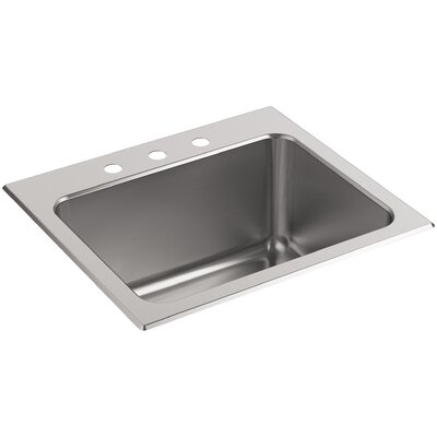 Ballad Top-Mount Utility Sink with 3 Faucet Holes