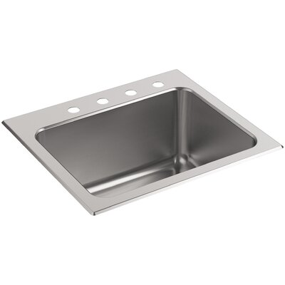 Ballad Top-Mount Utility Sink with 4 Faucet Holes