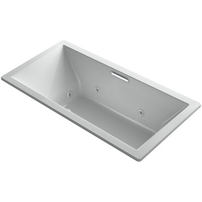 Underscore Drop-In Whirlpool with Heater Without Jet Trim and with Center Drain Finish: Ice Grey