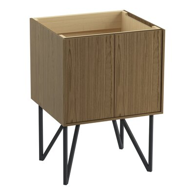 Jute 24 Vanity Base with Furniture Legs and 2 Doors Finish: Walnut Flax