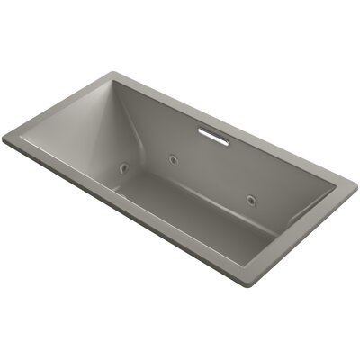 Underscore Drop-In Whirlpool with Heater Without Jet Trim and with Center Drain Finish: Cashmere