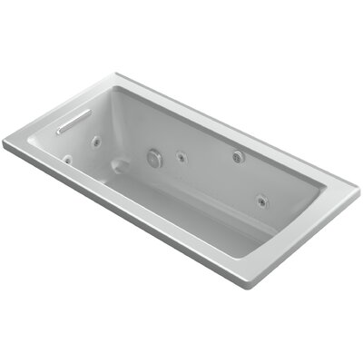 Archer Drop-in Whirlpool and BubbleMassage� Air Bath Finish: Ice Grey