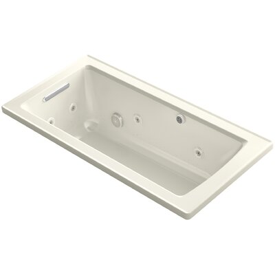 Archer Drop-in Whirlpool and BubbleMassage� Air Bath Finish: Biscuit