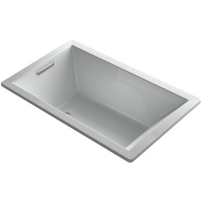 Underscore Vibracoustic 60 x 36 Soaking Bathtub Finish: Ice Grey