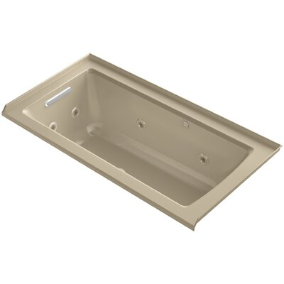 Archer Integral Flange Whirlpool and BubbleMassage� Air Bath with Left-Hand Drain Finish: Mexican Sand